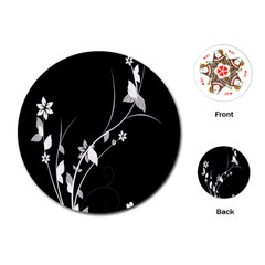 Plant Flora Flowers Composition Playing Cards (round)  by Simbadda