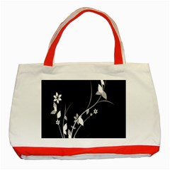 Plant Flora Flowers Composition Classic Tote Bag (red) by Simbadda