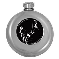 Plant Flora Flowers Composition Round Hip Flask (5 Oz) by Simbadda