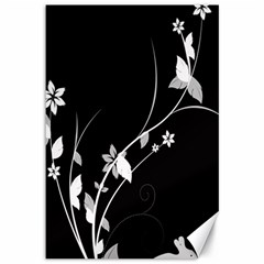 Plant Flora Flowers Composition Canvas 12  X 18   by Simbadda