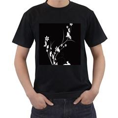 Plant Flora Flowers Composition Men s T Shirt (black)