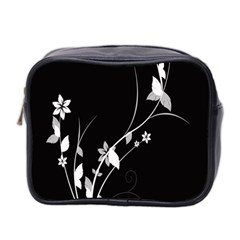 Plant Flora Flowers Composition Mini Toiletries Bag 2 Side by Simbadda