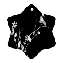 Plant Flora Flowers Composition Snowflake Ornament (two Sides) by Simbadda