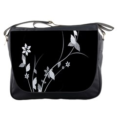 Plant Flora Flowers Composition Messenger Bags by Simbadda