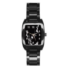 Plant Flora Flowers Composition Stainless Steel Barrel Watch by Simbadda