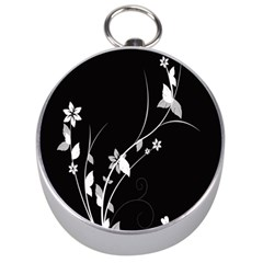 Plant Flora Flowers Composition Silver Compasses by Simbadda