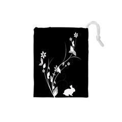 Plant Flora Flowers Composition Drawstring Pouches (small)  by Simbadda