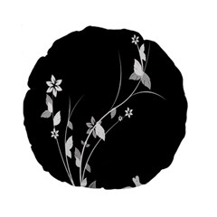 Plant Flora Flowers Composition Standard 15  Premium Flano Round Cushions by Simbadda