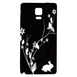 Plant Flora Flowers Composition Galaxy Note 4 Back Case Front