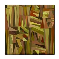 Earth Tones Geometric Shapes Unique Tile Coasters by Simbadda
