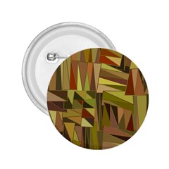 Earth Tones Geometric Shapes Unique 2 25  Buttons by Simbadda