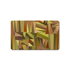 Earth Tones Geometric Shapes Unique Magnet (name Card) by Simbadda
