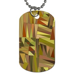 Earth Tones Geometric Shapes Unique Dog Tag (one Side) by Simbadda