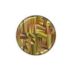 Earth Tones Geometric Shapes Unique Hat Clip Ball Marker by Simbadda
