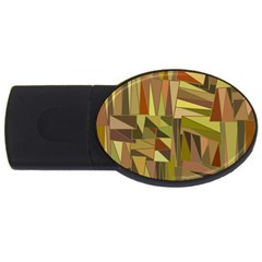 Earth Tones Geometric Shapes Unique Usb Flash Drive Oval (4 Gb) by Simbadda