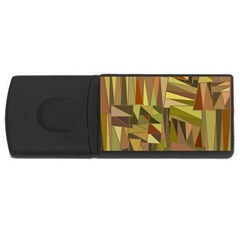 Earth Tones Geometric Shapes Unique Usb Flash Drive Rectangular (4 Gb) by Simbadda