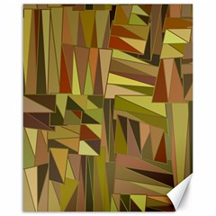 Earth Tones Geometric Shapes Unique Canvas 16  X 20   by Simbadda