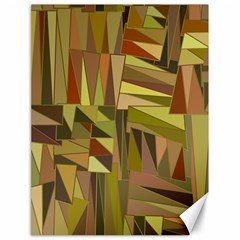 Earth Tones Geometric Shapes Unique Canvas 18  X 24   by Simbadda