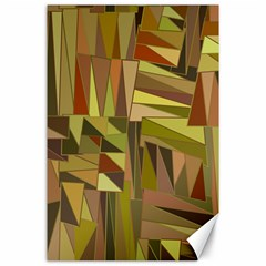 Earth Tones Geometric Shapes Unique Canvas 24  X 36  by Simbadda