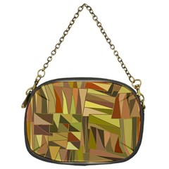 Earth Tones Geometric Shapes Unique Chain Purses (one Side)  by Simbadda