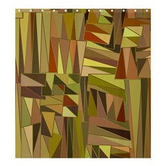 Earth Tones Geometric Shapes Unique Shower Curtain 66  X 72  (large)  by Simbadda