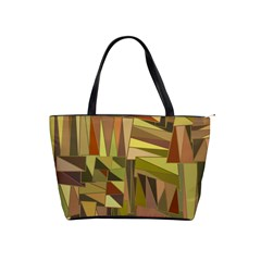 Earth Tones Geometric Shapes Unique Shoulder Handbags by Simbadda