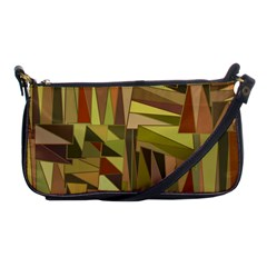 Earth Tones Geometric Shapes Unique Shoulder Clutch Bags by Simbadda