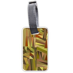 Earth Tones Geometric Shapes Unique Luggage Tags (one Side)  by Simbadda