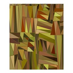 Earth Tones Geometric Shapes Unique Shower Curtain 60  X 72  (medium)  by Simbadda