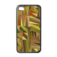 Earth Tones Geometric Shapes Unique Apple Iphone 4 Case (black) by Simbadda