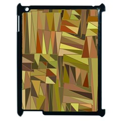 Earth Tones Geometric Shapes Unique Apple Ipad 2 Case (black) by Simbadda