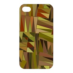 Earth Tones Geometric Shapes Unique Apple Iphone 4/4s Hardshell Case by Simbadda
