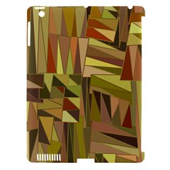Earth Tones Geometric Shapes Unique Apple Ipad 3/4 Hardshell Case (compatible With Smart Cover) by Simbadda