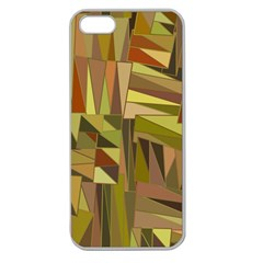 Earth Tones Geometric Shapes Unique Apple Seamless Iphone 5 Case (clear) by Simbadda