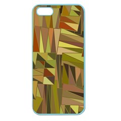 Earth Tones Geometric Shapes Unique Apple Seamless Iphone 5 Case (color) by Simbadda