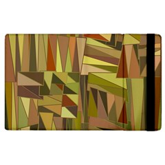 Earth Tones Geometric Shapes Unique Apple Ipad 3/4 Flip Case by Simbadda