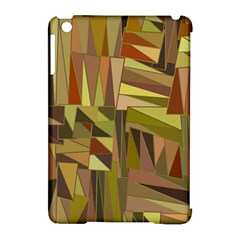 Earth Tones Geometric Shapes Unique Apple Ipad Mini Hardshell Case (compatible With Smart Cover) by Simbadda