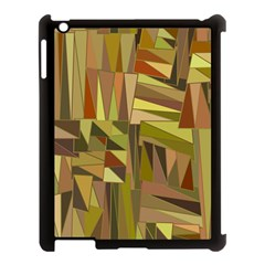 Earth Tones Geometric Shapes Unique Apple Ipad 3/4 Case (black) by Simbadda