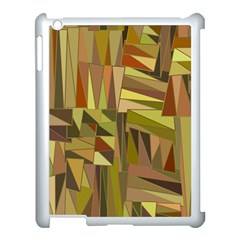 Earth Tones Geometric Shapes Unique Apple Ipad 3/4 Case (white) by Simbadda