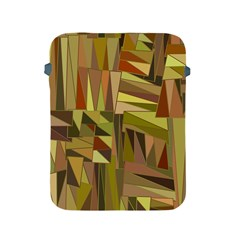 Earth Tones Geometric Shapes Unique Apple Ipad 2/3/4 Protective Soft Cases by Simbadda