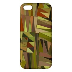 Earth Tones Geometric Shapes Unique Iphone 5s/ Se Premium Hardshell Case by Simbadda