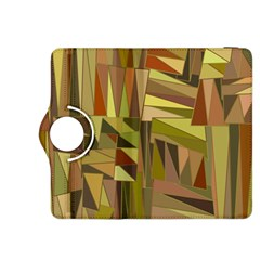 Earth Tones Geometric Shapes Unique Kindle Fire Hdx 8 9  Flip 360 Case by Simbadda