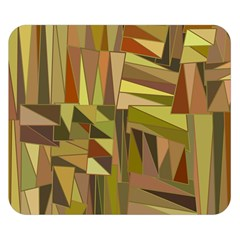 Earth Tones Geometric Shapes Unique Double Sided Flano Blanket (small)  by Simbadda