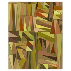 Earth Tones Geometric Shapes Unique Drawstring Bag (small) by Simbadda