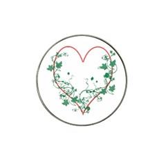 Heart Ranke Nature Romance Plant Hat Clip Ball Marker by Simbadda