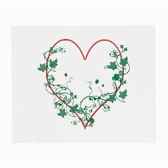 Heart Ranke Nature Romance Plant Small Glasses Cloth (2 Side) by Simbadda
