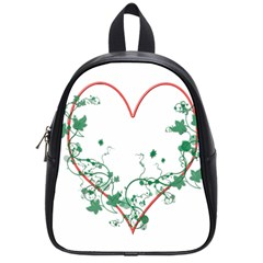 Heart Ranke Nature Romance Plant School Bags (small)  by Simbadda