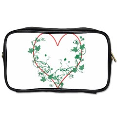 Heart Ranke Nature Romance Plant Toiletries Bags by Simbadda