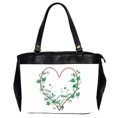 Heart Ranke Nature Romance Plant Office Handbags (2 Sides)  by Simbadda
