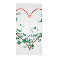 Heart Ranke Nature Romance Plant Shower Curtain 36  X 72  (stall)  by Simbadda